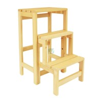 Escabeau tabouret transformable 2 marches + tablette  LÉVI-JTT600 de Lévi