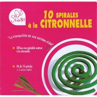 Kit anti-moustique - 10 spirales Citronnelle + 2 socles  SIAM-560004 de Siam